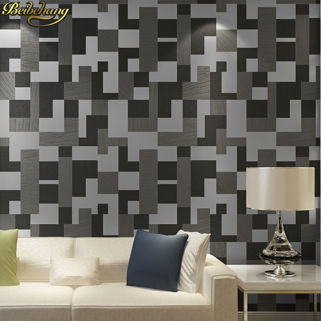 Beibehang 3d glitter mosaik tapeten für wohnzimmer metallic tapete ...