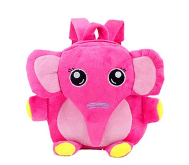 2015 cartoon elephant kids mochila infantil backpack baby children kindergarten boys girls plush school bag free shipping gifts