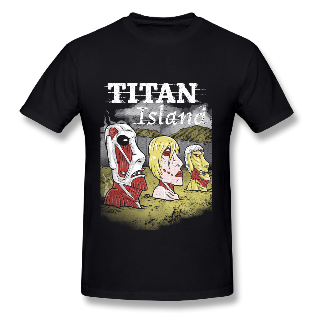Attack On Titan Island T Shirt Graphic Boy Soft Tees 3D Print 100% Cotton Tee Fashionable t shirt Camiseta