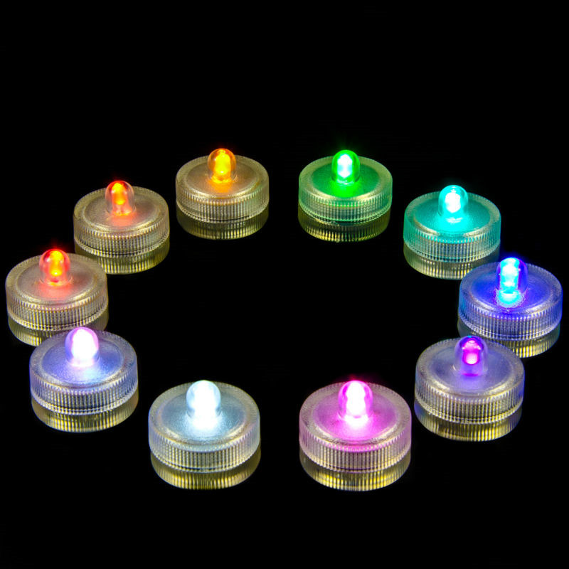 KITOSUN CR2032 Battery Operated 11 Colors For Choose Submersible Waterproof Mini LED Light For Swimming Poor Decoration