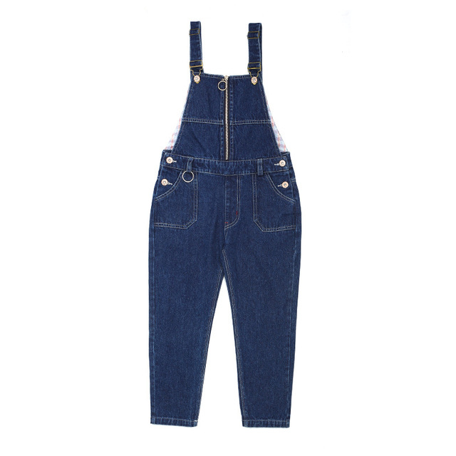 fa2780f5a40 3 4 5 6 7 8 9 10 11 12 Years Toddler Girls Overalls Denim Jumpsuits 2017  Autumn Kids Jeans Toursers Teenagers Solid Girl Pants