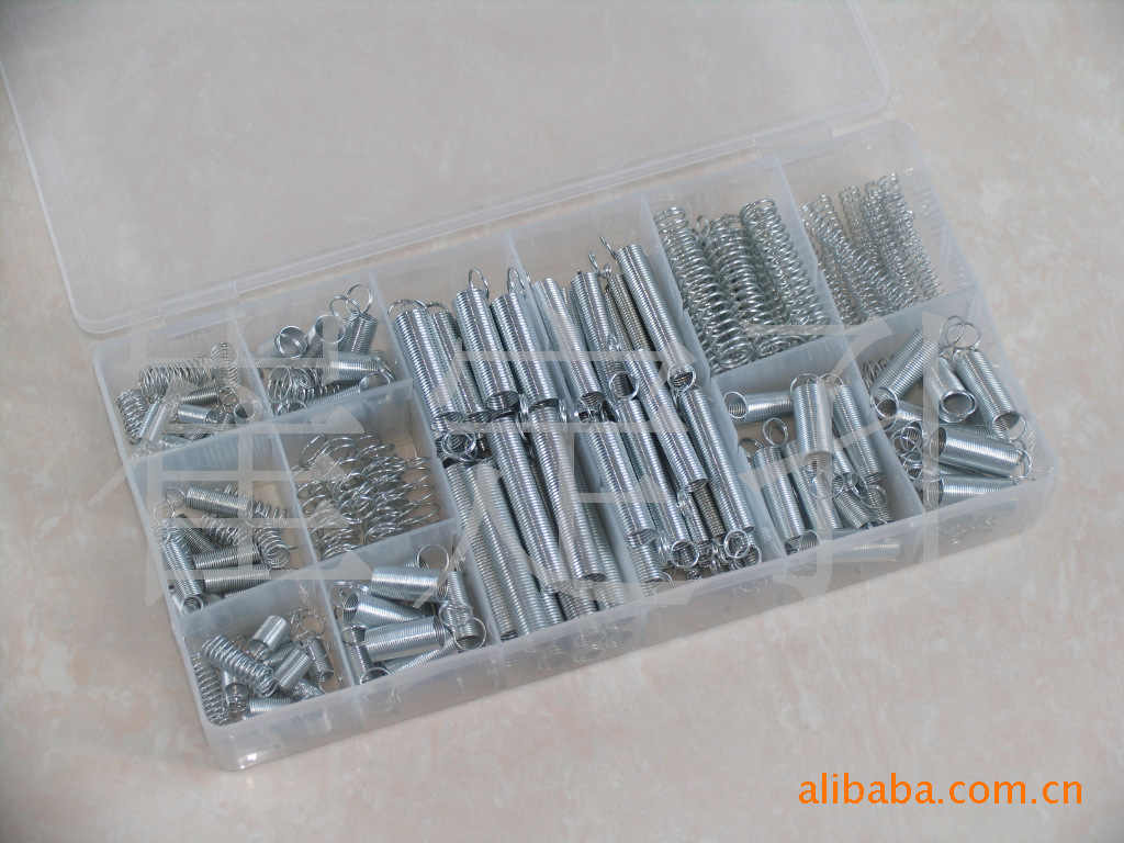 200Pcs/box Steel Spring Electrical Hardware Drum Extension Tension Springs Pressure Suit Metal Assortment Hardware Kit Assorted