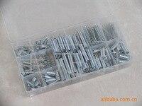 200 stks/doos Staal Lente Elektrische Hardware Drum Extension Trekveren Druk Pak Metalen Assortiment Hardware Kit Diverse