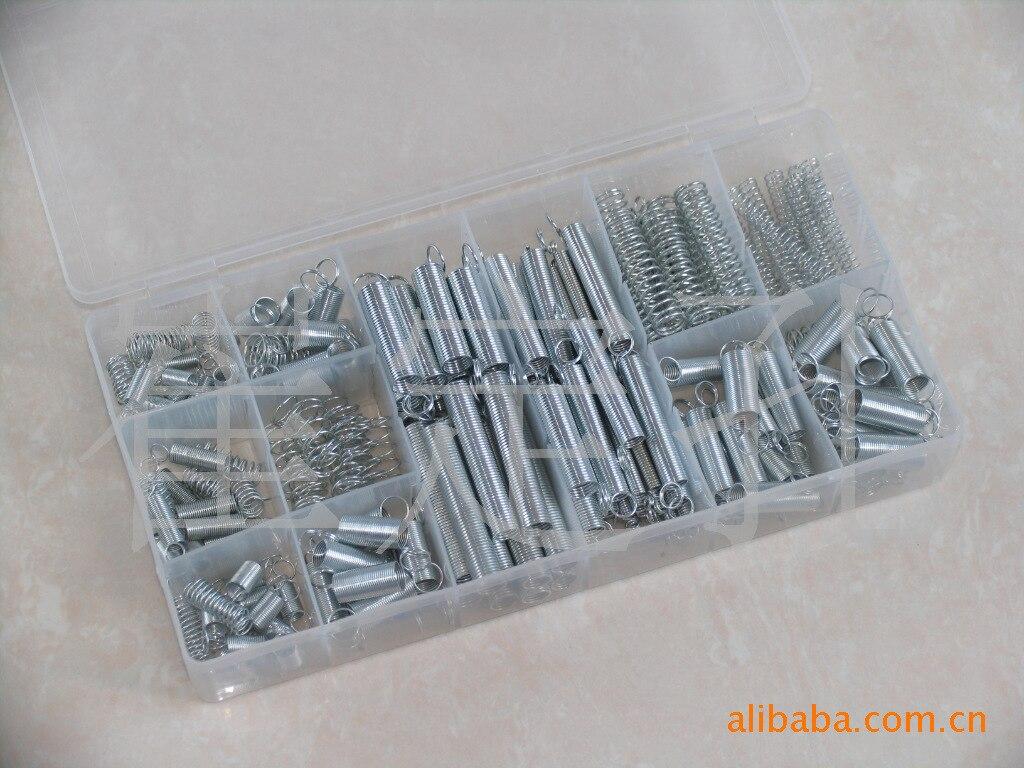 200 unids/caja de resorte de acero eléctrico de Hardware extensión del tambor tensión Springs traje de presión de Metal Hardware de surtido Kit de surtido