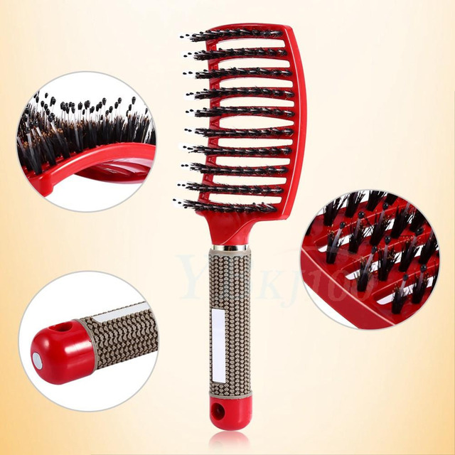 Professional Salon Hair Brush Scalp Mage Paddle Women Comb Hairdresser Supplies Wet Curly Detangle