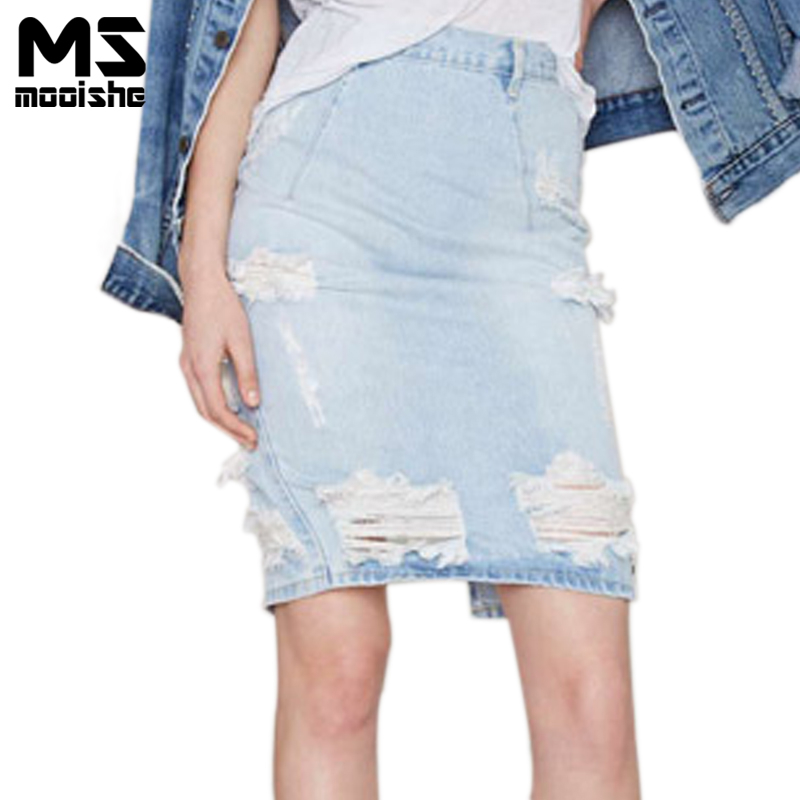 Online Get Cheap Denim Skirts Knee Length -Aliexpress.com ...