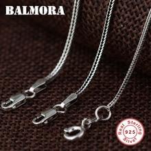 1ee56f6837f1 BALMORA 100% real 925 cadenas de joyería de plata de ley collares para hombres  tailandeses accesorios colgantes de plata regalos.