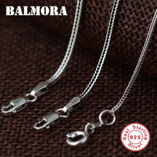 BALMORA 100% real 925 sterling silver jewelry chains chokers necklaces for men Thai Silver pendant accessories gifts JLC001(China)
