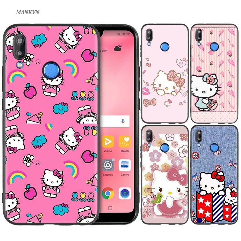 100% Kwaliteit Zwart Siliconen Case Bag Cover Voor Huawei P30 P20 P10 P9 P8 Mate 10 20 Lite 2017 Mini Pro P Smart Plus 2019 Modieuze Hello