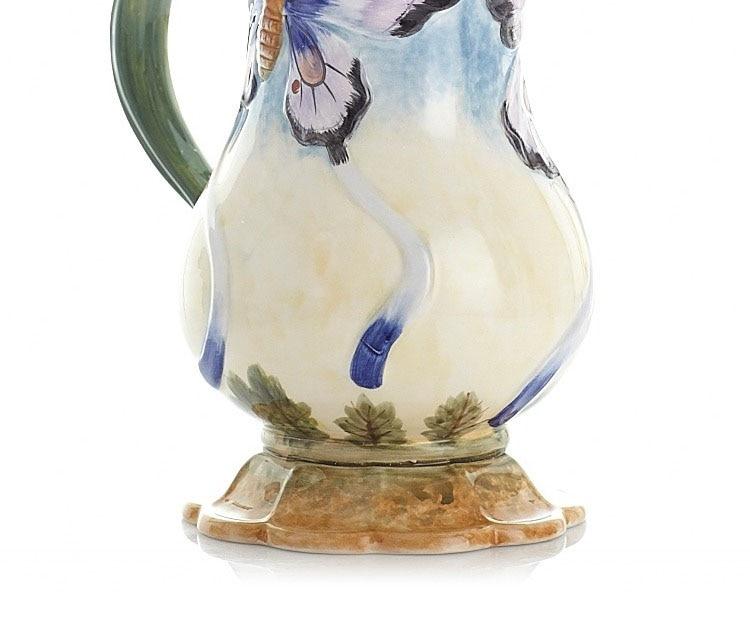 europeu flores vasos borboleta simples frasco leite vaso