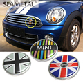 Car-Styling For BMW MINI Cooper Countryman Clubman Couper 3D Metal Front Grill Emblem Sticker Badge Decorative Auto Accessories