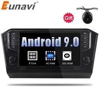Eunavi 9 ''1din Android 9,0 1024*600 Hd Octa Core автомобильный Радио стерео для VW Passat B7 gps навигации 4G Оперативная память с CAN BUS usb Wi Fi