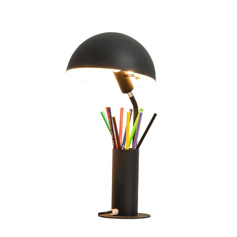 Цветная настольная абажур для лампы Luminaria de Mesa Lampara светодиодный Escritorio ручка контейнер для чтения Книжные огни Настольный E27 светодиодный Настольный светильник - 4