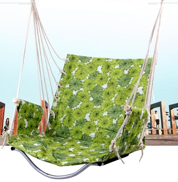 simple exterior patio columpios para adultos silla del oscilacin del jardn algodn esponja colgando suave balcn silla with columpios para el jardin - Columpios Jardin