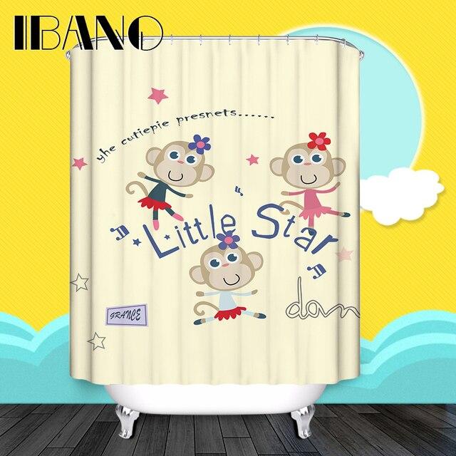 Cartoon Shower Curtain Facebook Monkey Pattern Custom Shower ...
