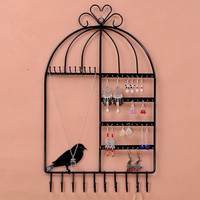 Wrought Iron Jewelry Display Shelf Frame Earrings Necklace Holder Stud Earring Accessories Storage Rack Jewelry Necklace