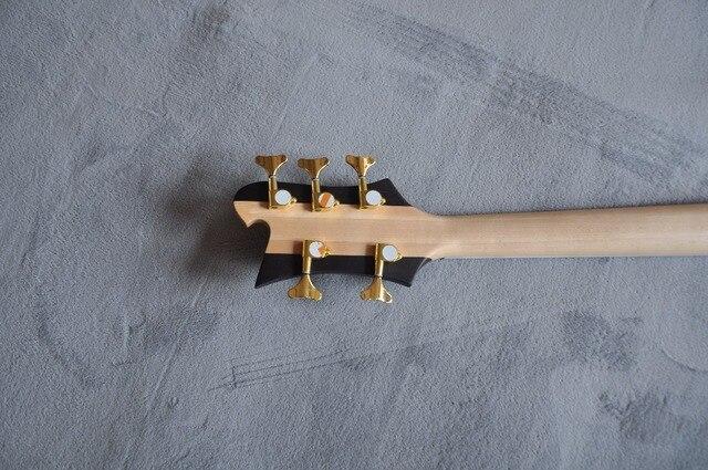 Engraved 5 string bass guitar  5
