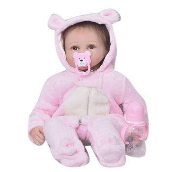 22inch silicone Reborn Dolls Kid's Toys collection pink menina Brinquedos Gifts Baby Accompany Toy Enlightenment Dolls for sale