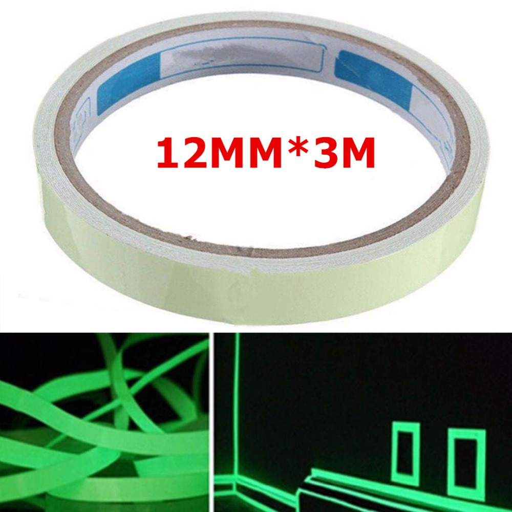 3M*12mm Luminous Tape Self-adhesive Tape Night Vision Glow In Dark Safety Warning Security Stage Home Decoration Tapes