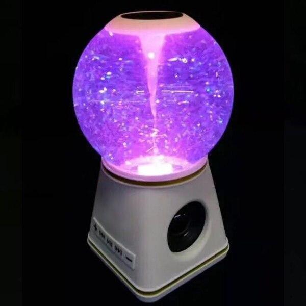 Haut-parleurs Bluetooth avec boule de cristal haut-parleur Portable sans fil pour voiture à la maison WIF66