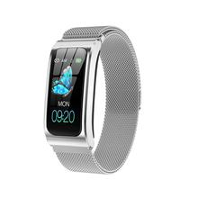 Reloj inteligente AK12 resistente al agua, cronómetro, alarma, pulsera de reloj para Android e IOS