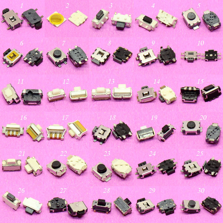 cltgxdd 30models Touch ON/OFF micro switch for Xiaomi Sansung Sony HTC Moto N6120 tactile push button switch 3*6*3.5mm 2*4*3.5mm 50pcs lot 6 6 4 3mm micro light touch switch on off touch button touch micro switch keys button 4pin free shipping