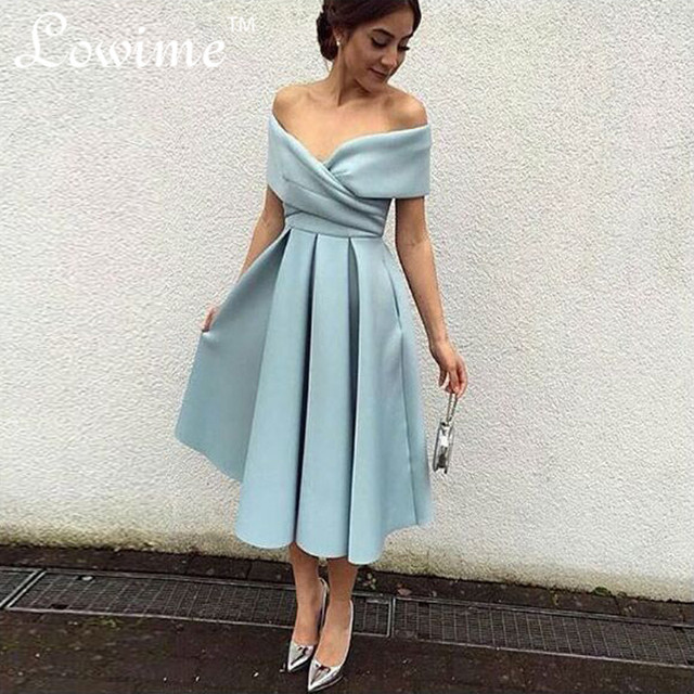Aliexpress.com : Buy Elegant Off the shoulder Prom Dresses Pleats ...