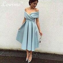 elegant off der schulter prom kleider falten einfache formale dress abendgesellschaft gewand de Soiree cocktailkleider 2016 abendkleider