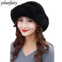 2018 Winter Hats for Women Natural Mink Fur Bonnet Women's Streetwear Hat Fashion Real Fur Warm Caps Gorros Mujer Invierno MY814