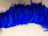 EMS Free Shipping 0.5KG Royal Blue Hackle Feather Trim 15 20cm 6 8 Rooster feather Trimming Cock Fringe For Costume Wholsale