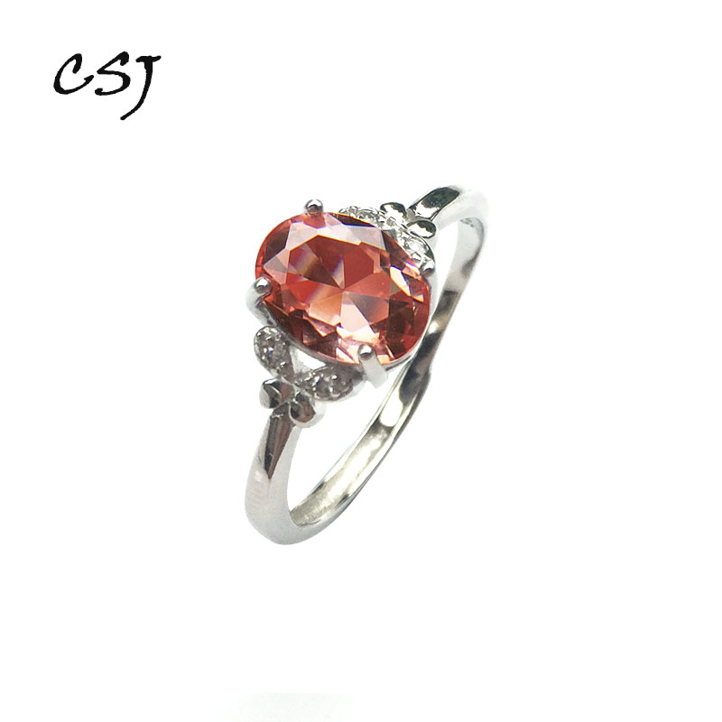 CSJ Oval 6*8 Mm Zultanite Change Color Ring Sterling 925 Silver Created Zultanite Fine Jewelry Mom Or Madam Daily Wear Gift Box