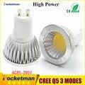 LED Spotlight GU10 COB Dimmable led bulb 6W 9W 12W Warm White / white 85-265V Ultra Bright GU 10 Bulbs Free shipping 1PCS