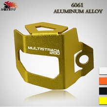 For Ducati MTS1200 MTS 1200 Multistrada1200 Multistrada 1200 Motorcycle Rear Brake Fluid Reservoir Guard Cover Protect