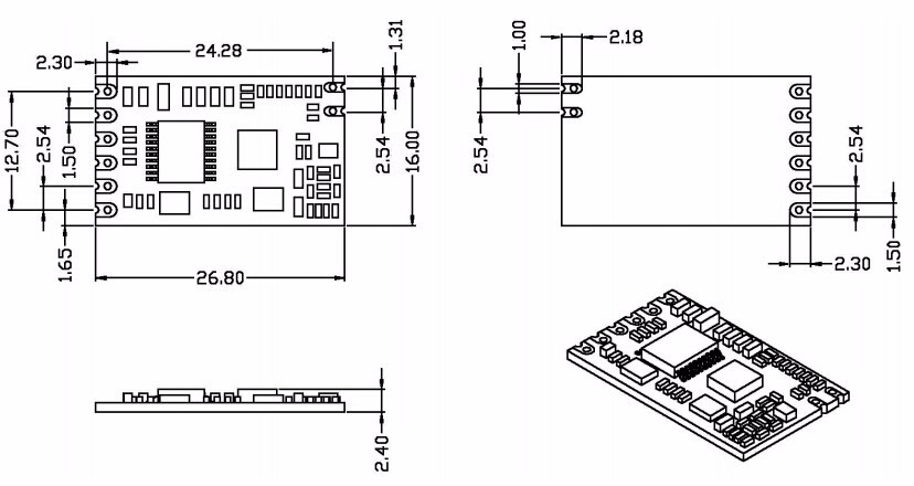 Placa Ponte USB + 1pc Primavera Antena)