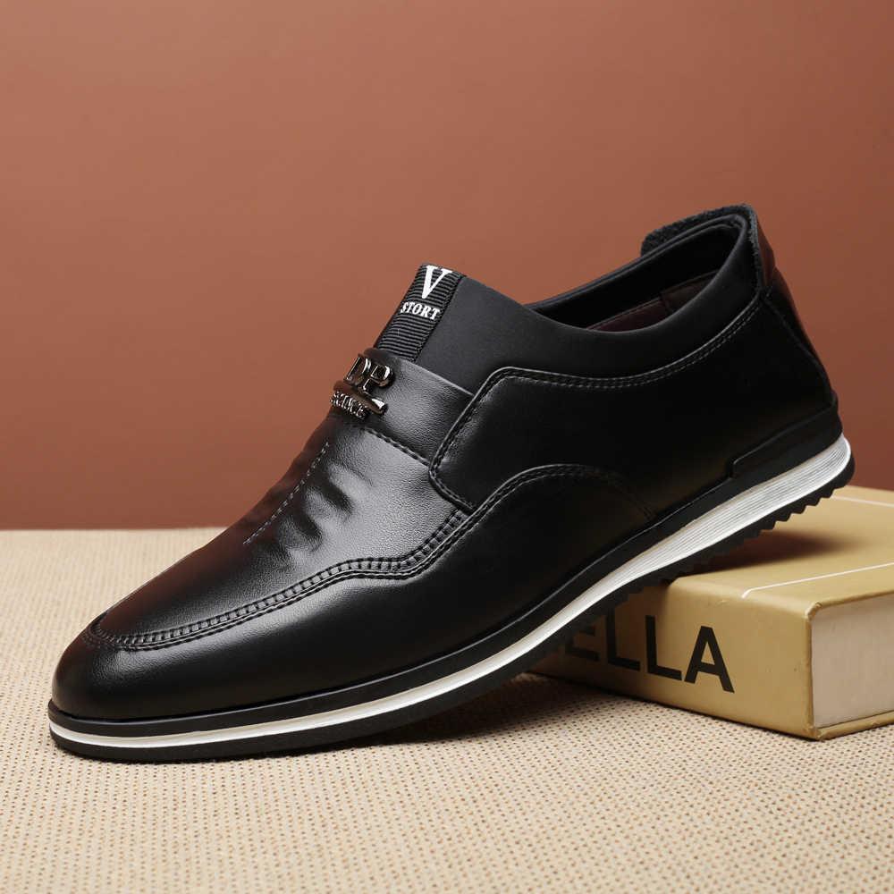 Monstceler Mode Lederen heren Loafers schoenen Britse Stijl Mannen Koeienhuid Schoenen Slip Op Mannelijke Toevallige Rijden Platte Schoenen