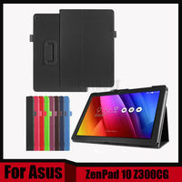 New Arrival Litchi PU Leather Case Stand Slim Cover For ASUS Zenpad 10 Z300C Z300CL Z300CG