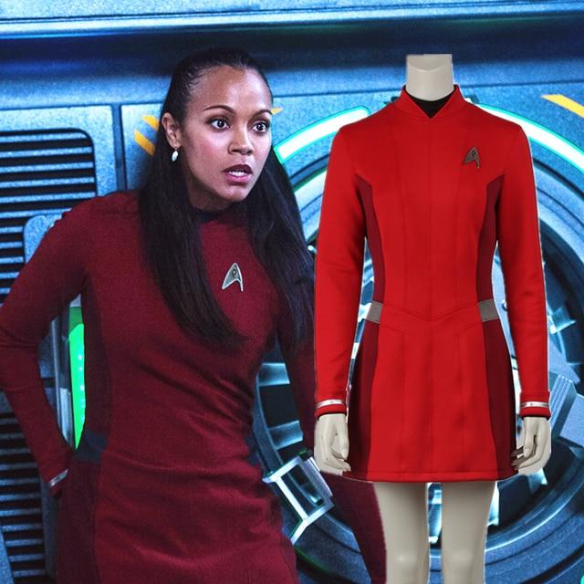 Star Trek Beyond Uhura Costume Dress Cosplay Star Trek Uniform Red