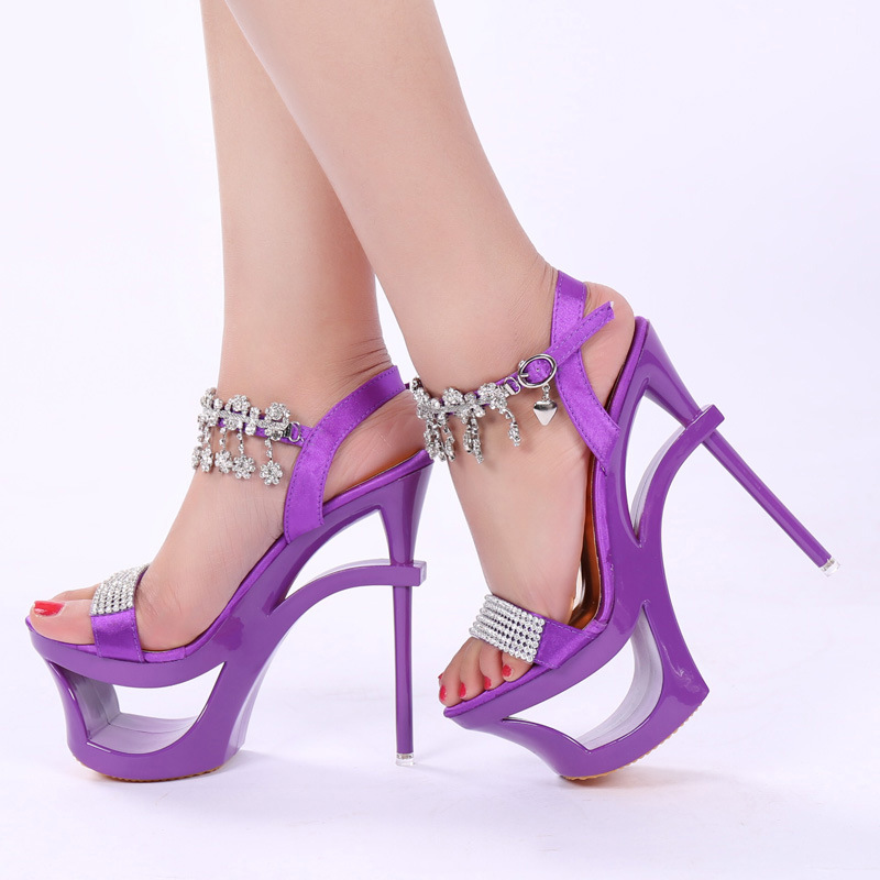 15cm The south Korean version of the sandals, the new high heel shoes, the new and the hollow Roman sandals15cm The south Korean version of the sandals, the new high heel shoes, the new and the hollow Roman sandals