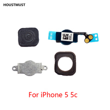 HOUSTMUST 1pcs Home Button with Flex Cable for iPhone 5 5C 5S 6 6Plus 6s plus 7 7Plus Home button Flex Assembly free shipping cheap Apple iPhone For iphone 6