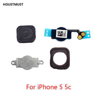 HOUSTMUST 1pcs Home Button with Flex Cable for iPhone 5 5C 5S 6 6Plus 6s plus 7 7Plus Home button Flex Assembly free shipping