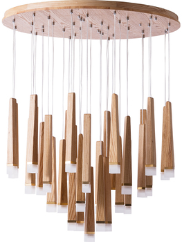 Solid Wooden personality creative simplicity restaurant Nordic LED single head solid wood long stick match pendant lights MZ126
