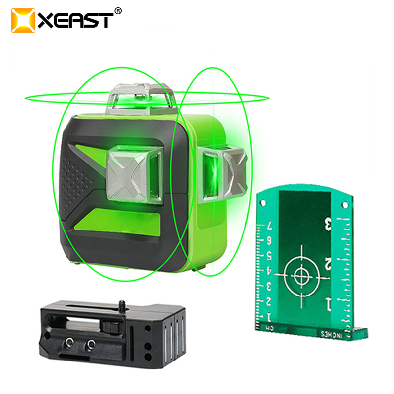 XEAST 12 lines XE 93TG lithium battery green laser level 360 Vertical And Horizontal Self leveling