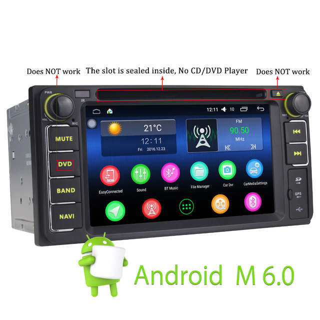 US $289 99 |JOYING 2 din car radio doble gps android auto coche 2gb touch  screen for Toyota camry for toyota rav4 tundra 2013 yaris prado-in Car