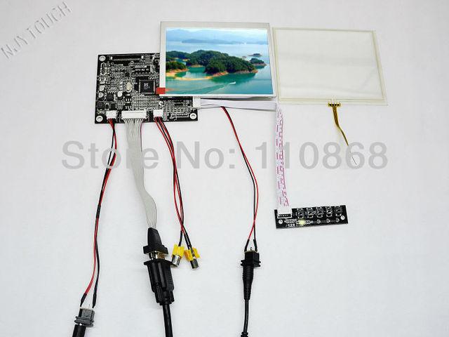 """Venta caliente de 5.6 pulgadas táctil LCD monitor VGA $ number AV + Revertir Controller Board + 5.6 """"TFT INNOLUX AT056TN53 40 Pin 640x480 + Panel Táctil"""