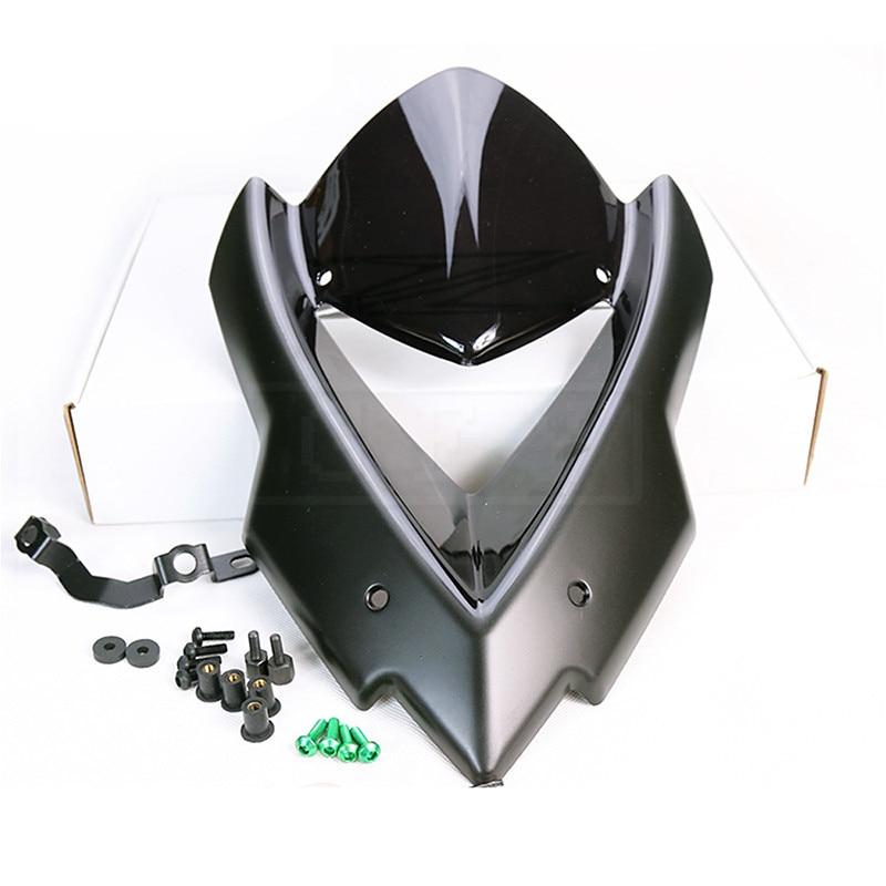 Motorcycle Windscreen Double Bubble Windshield For Kawasaki Z1000 2015 2016 Moto Protector Fairing Kit Accessory Z 1000 15 16