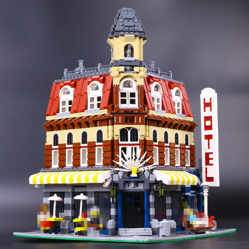 LEPIN 15002 City Street Cafe Corner Model Building Kits Assembling Blocks Kid Toy compatible 10182 Educational Toy Funny Gift lepin 16008 creator cinderella princess castle city 4080pcs model building block kid toy gift compatible 71040