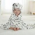 Baby Cartoon Animal Cosplay Photo props Receiving Blanket Flannel White snow leopard Design Newborn Infant Bath Sleeping Robe