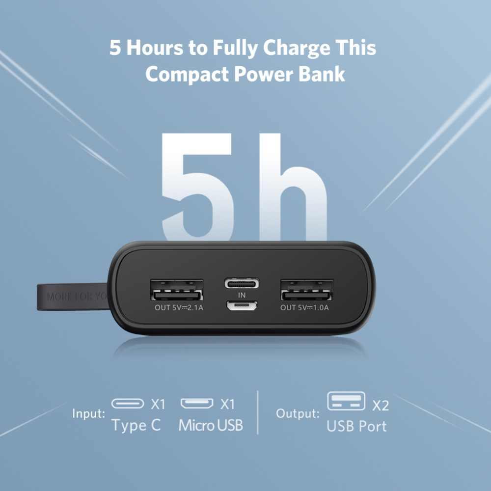Ugreen الطاقة البنك ل Xiaomi البسيطة Pover البنك 10000mAh المحمولة الخارجية شاحن بطارية هاتف محمول ل فون X هواوي P20 PoverBank