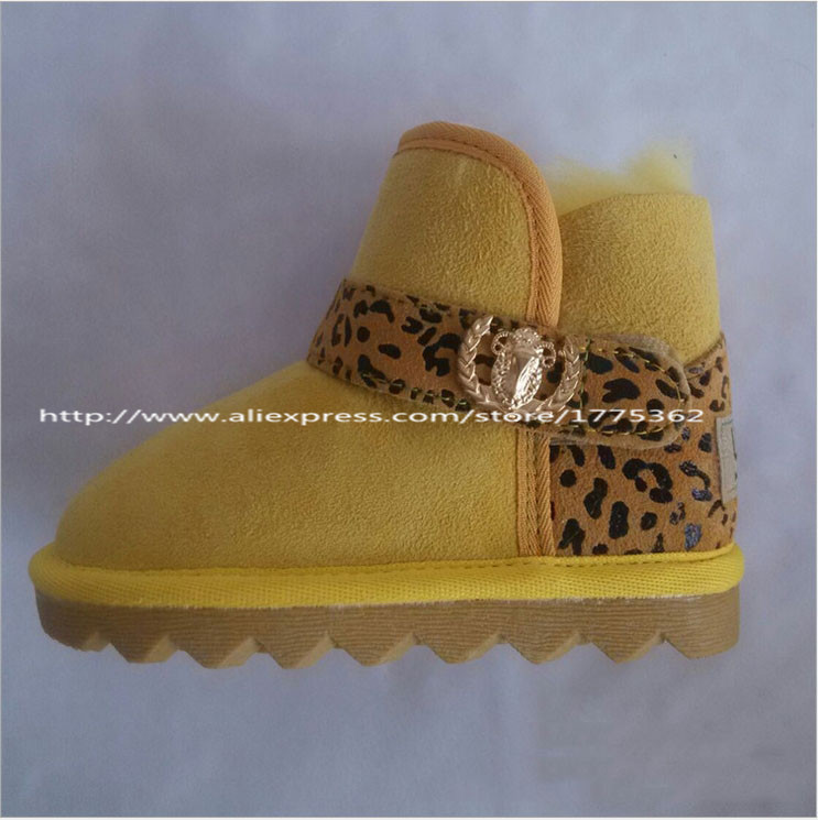 Autumn Winter Children's Fur Snow Boots Shoes Baby Girls Flat Warm Snow Boots with Fringe Baby Hige Quality Cow Muscle The sole