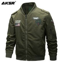 AKSR  Men Jacket Military Mens Fashion Clothes Air Force Flight Comfortable, Soft and Elastic Fabric
